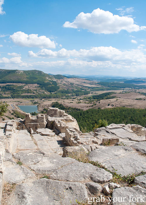 ruins ancient city archaeological site perperikon perpericon bulgaria