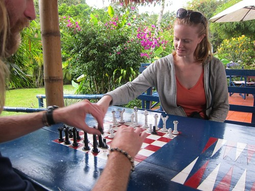 Chess game at the French hostel