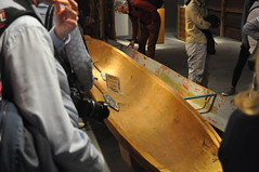 Canoe being made as a part of original art