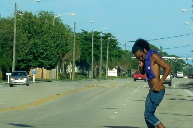 Black boy in Sunday Morning Traffic