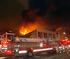 Fire Consumes Downtown Los Angeles Smoking Supply Firm