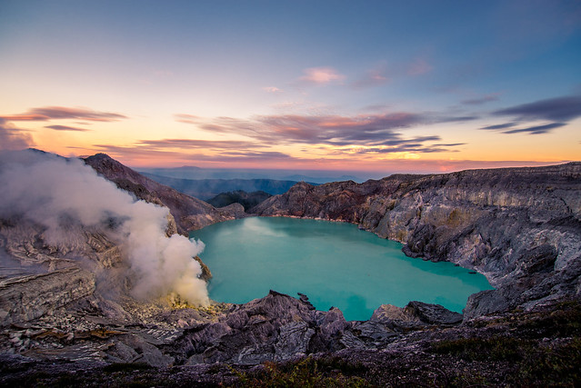 A natural phenomenon - Kawah Ijen Crater Java Indonesia