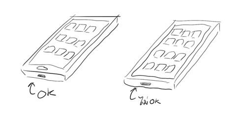 การวางพอร์ต Micro USB แบบทางซ้าย OK แบบทางขวาจะไม่เวิร์ก