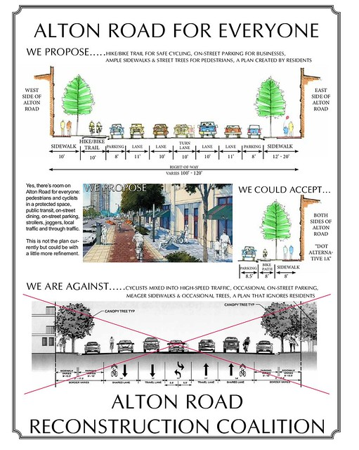 graphic from Alton Road Reconstruction Coalition