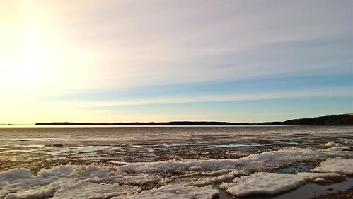 sunset lake ice lumia920