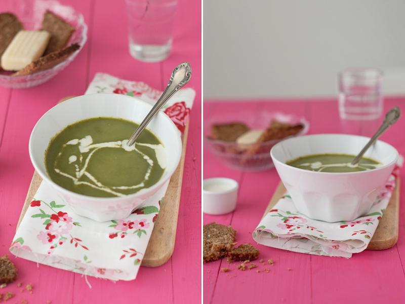 receta sopa de espinaca