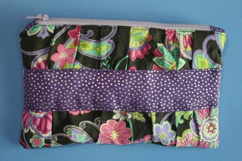 purple floral pouch