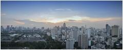 Evening Glow Over Bangkok