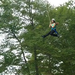 You really should consider taking Outdoor Education... You get to do this! #zipline