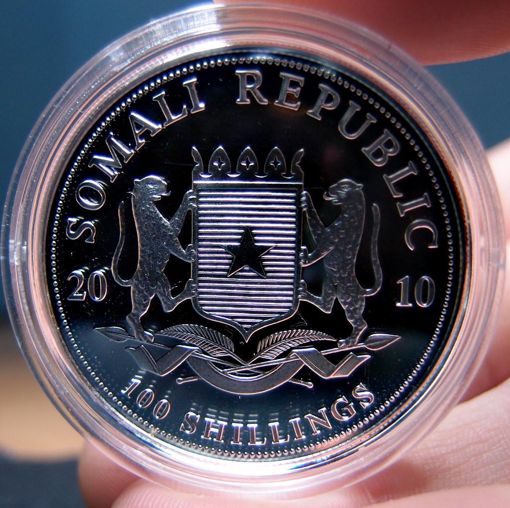 """Colección de onzas de plata """"Somalian African Wildlife""""  10276798705_d201c8d07d_b"""