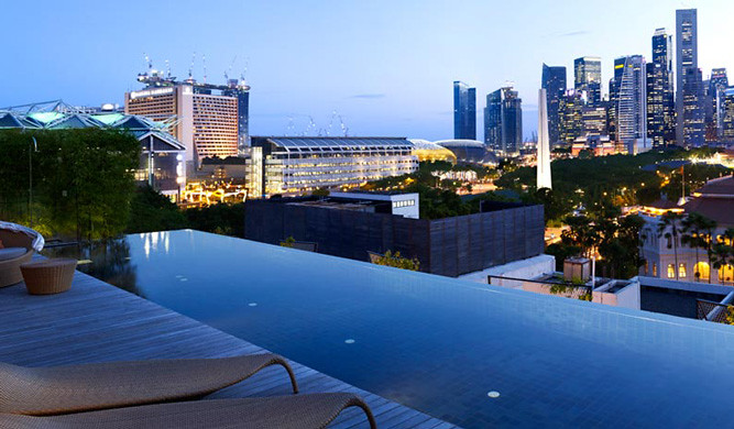 Staycation at naumi hotel juicebits - Rooftop swimming pool in singapore ...