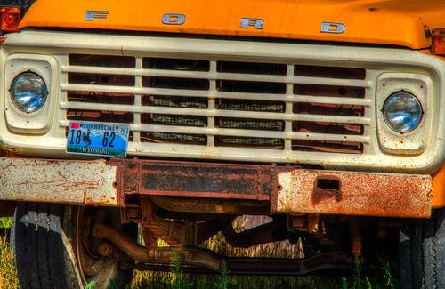 old ford hdr vehicle truck wyoming wyo licenseplate rusty antique vintage fordtruck gillette gillettewyoming
