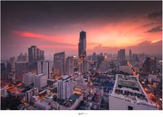 Sunset View through Mahankhon, The new tallest building in Bangkok