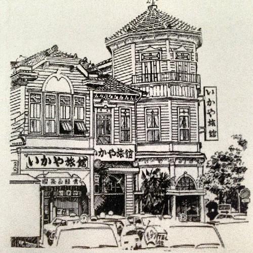 宿泊した直江津駅前のホテル。1986年までは大正2年完成のコロニアル様式の建物だったそうな。カッケー