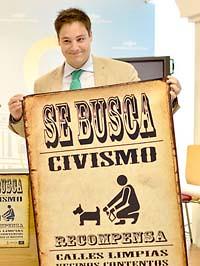 """Cartel de la campaña """"Se busca civismo"""""""