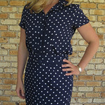 Polka Dot 80's dress refashion