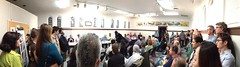 ERNC bike lane meeting panorama
