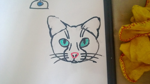 Enjoy this picture of a poorly drawn cat