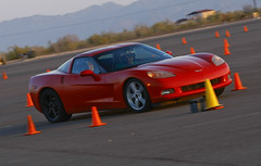 "Autocross ""Hot Pass"" with the Corvettes"