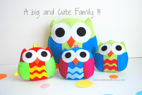 Taking a short break from custom orders to make this cute owls !!! by Mariapalito