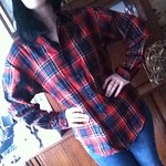 Ralph Lauren plaid blouse from tag sale in Great Neck