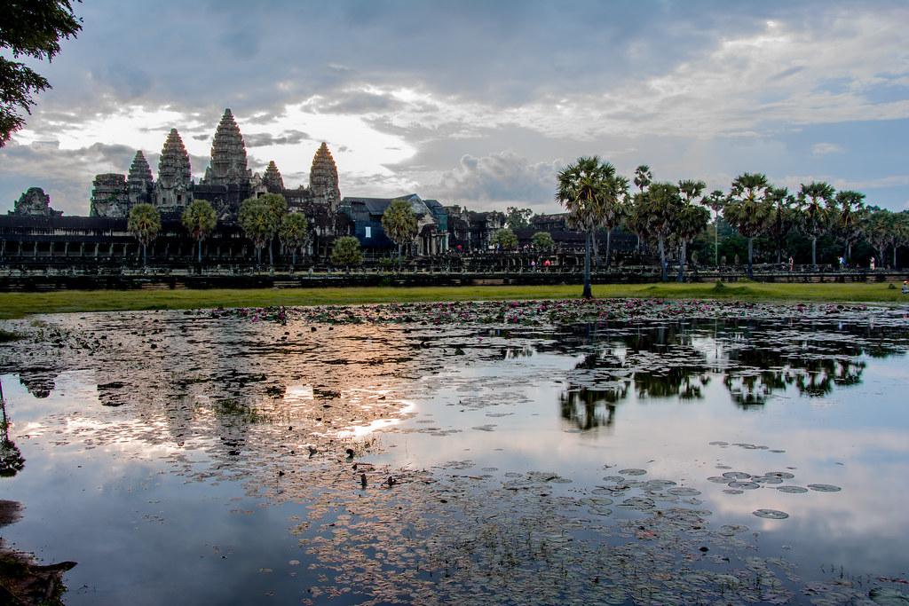 Angkor Wat at the Sunrise / Siem Reap/ Cambodia