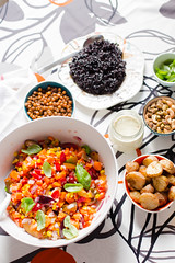 Roasted Potato, Black Rice and Crispy Chickpea Sal…