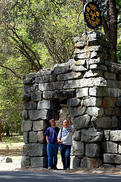 Kevin and Paul at the Ahwahnee Entrance Gate
