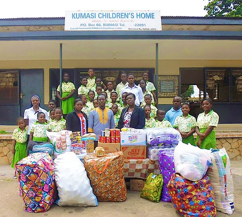 St Louis Jubilee School, Kumasi, donates to Kumasi Children's Home
