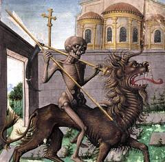 discardingimages: death riding the horned lion book of hours, Provence ca. 1485-1490 Moulins, Bibliothèque municipale, ms. 89, fol. 88r
