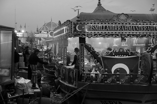 Dockside Fish Restaurants - Istanbul, Turkey