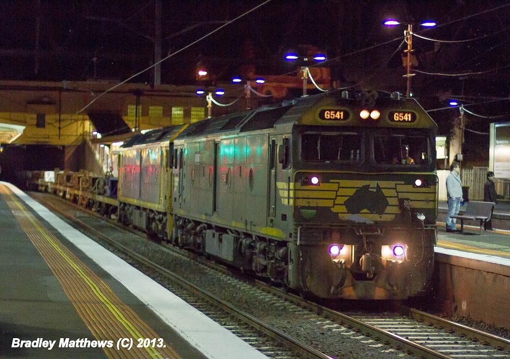 G541-BL29 on #9556 up Long Island Steel Train at Sth Yarra (3/5/2013) by Bradley Matthews