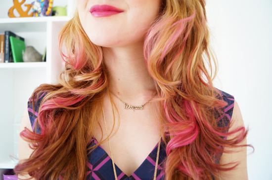 Pink Hair Chalk
