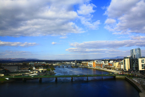 city bridge blue ireland sky skyline river centre limerick clarion limerickcity rivershannon shannonbridge thomondbridge limerickcitycentre viewfromtheclarion