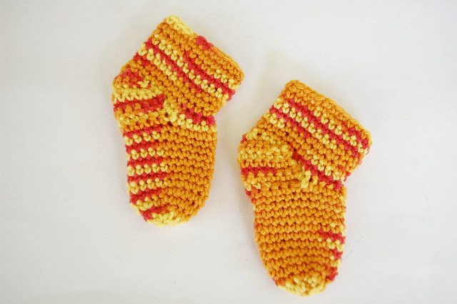 Free crochet pattern Baby Booties Socks by Knot By Gran'ma