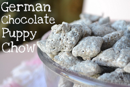 german chocolate puppy chow