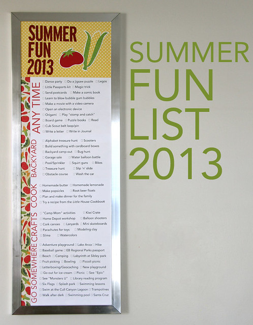 Summer Fun List 2013