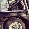 Big tire, little tire. #cartransporter #MiniCooper