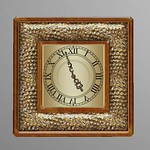 Scripted Vintage Clock Gold 3D Model