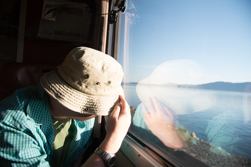 Sunny side of Amtrak Cascades Line