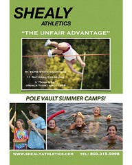 Did you know, this is the same camp, club and coach that Sandi Morris had? One of the best of the best, I would suggest getting started today.   @sandicheekspv @rustyshealy  www.shealyathletics.com  #polevaulting #vaultermagazine #vaulterclub #gymmastics