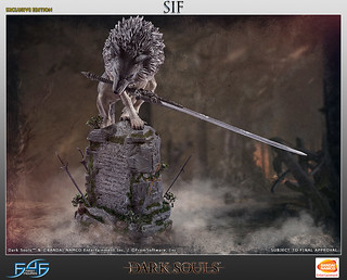 守護墓塚的巨大灰狼 First 4 Figures 《黑暗靈魂》巨狼希夫 The Great Grey Wolf, Sif  雕像