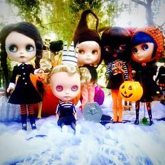 Squad Goals. @sirenitadolls #squadgoals #wednesdayaddams #halloween #poupée #blythe #blythedoll #amaryllis #artdoll #art #ブライス