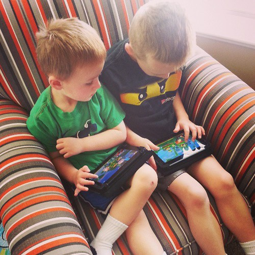 New games on their kindles.  I hope they love each other forever.