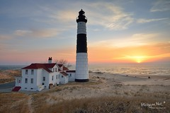Big Sable Point Lighthouse Sunset by Michigan Nut