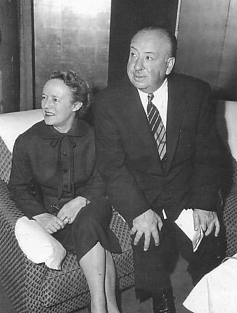 Alfred Hitchcock and his wife