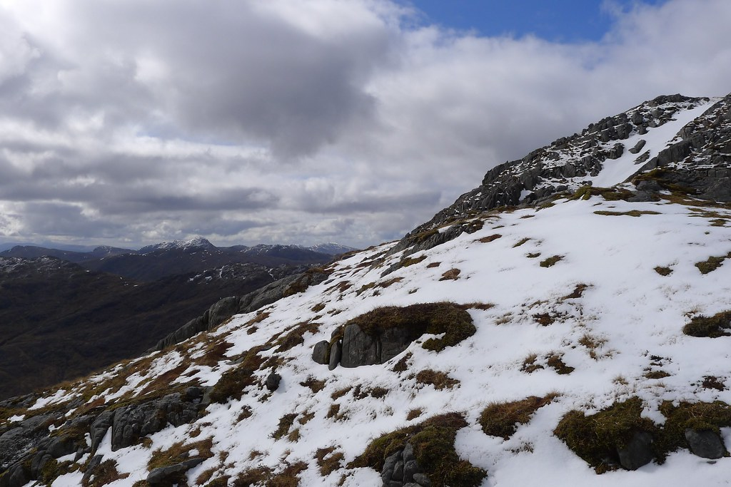 Summit slopes of Sgurr Ghiubhsachain
