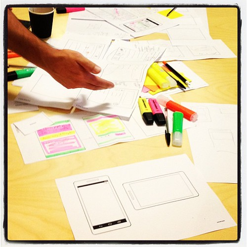 Atelier de design d'applis mobile