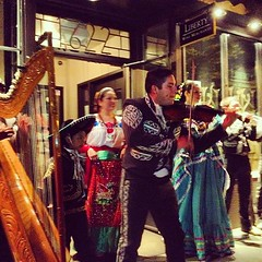 Not just 1 mariachi band, but TWO!! At La Mezcalita on The Drive. Brilliant