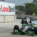 Tony Kanaan and Will Power exit Turn 6 at Belle Isle